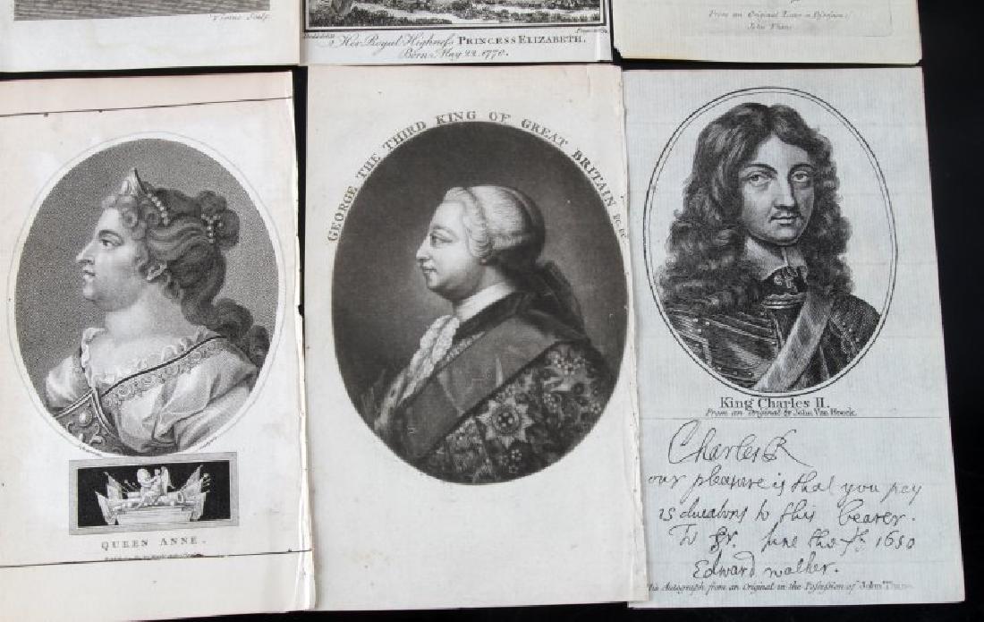 GEORGIAN VICTORIAN ETCHINGS OF BRITISH ROYALTY - 3