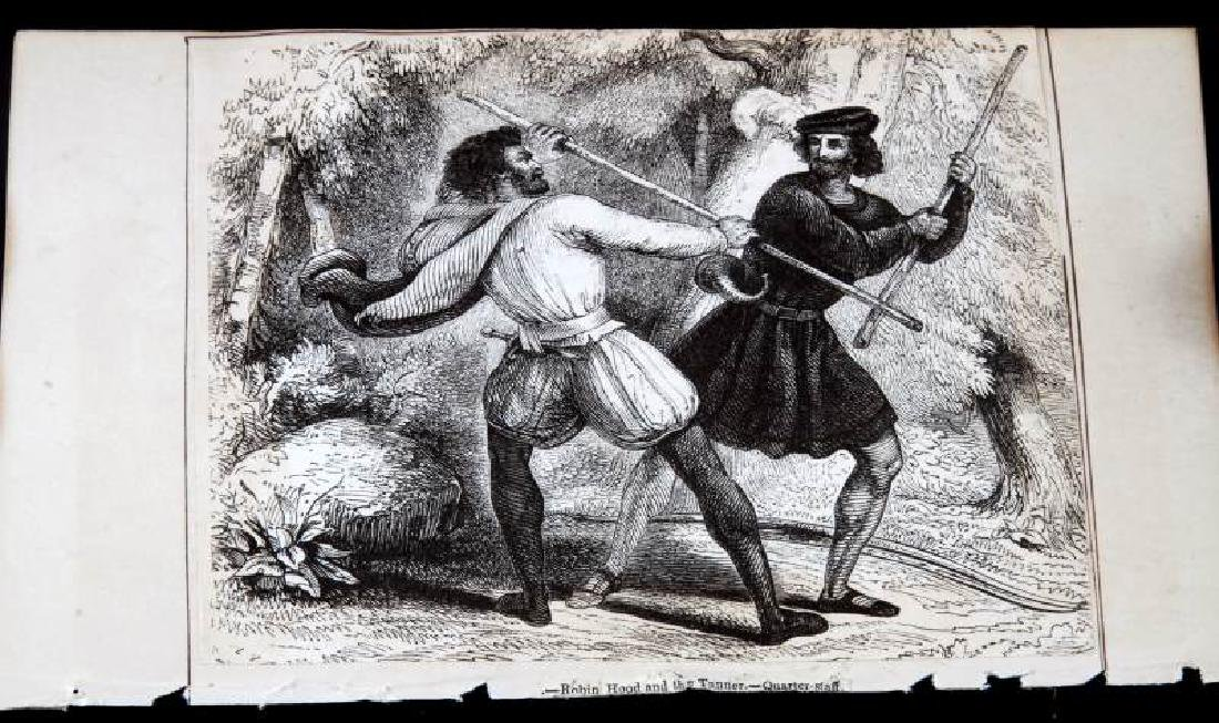 18TH CENTURY ROBIN HOOD COLOR ADVERTISING ETCHING - 2