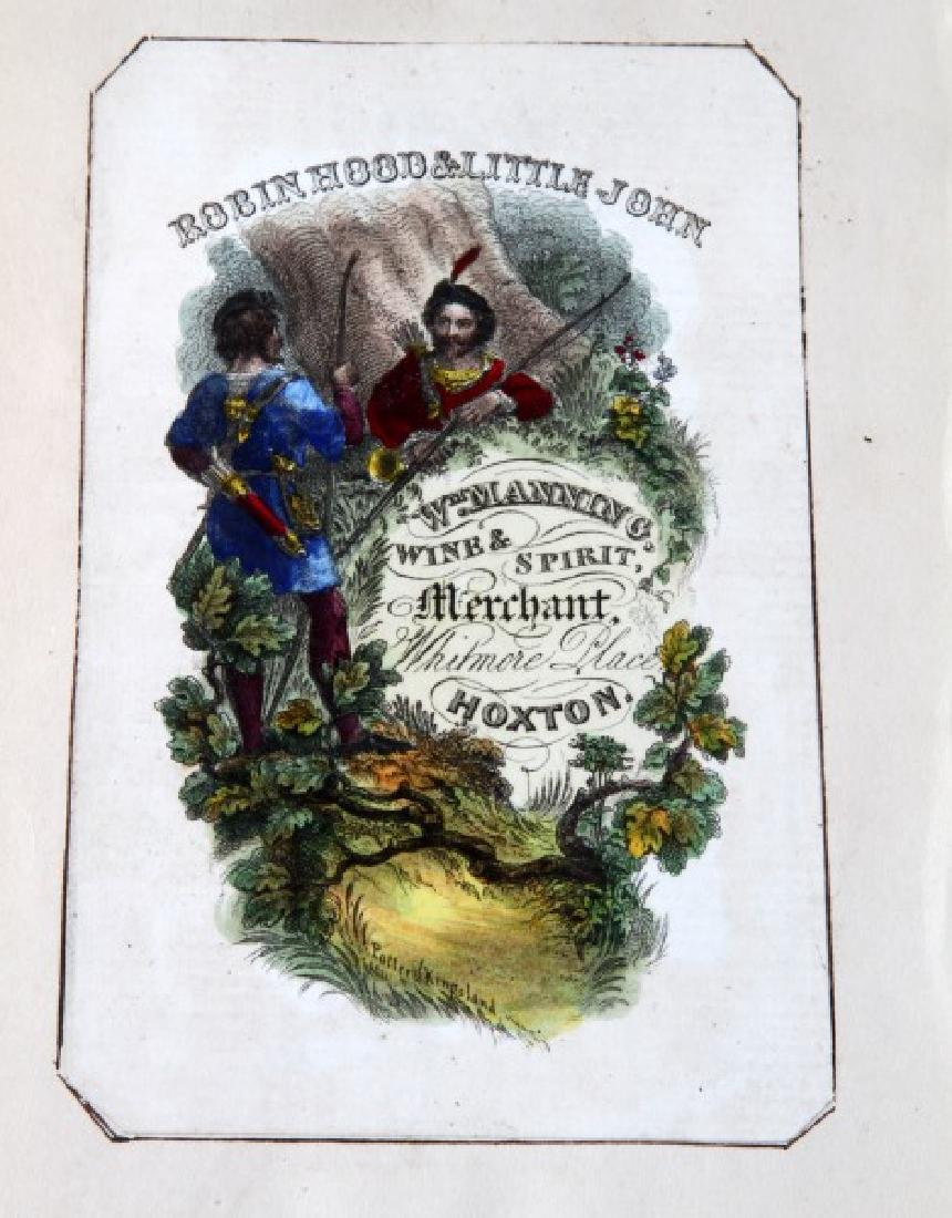 18TH CENTURY ROBIN HOOD COLOR ADVERTISING ETCHING - 3