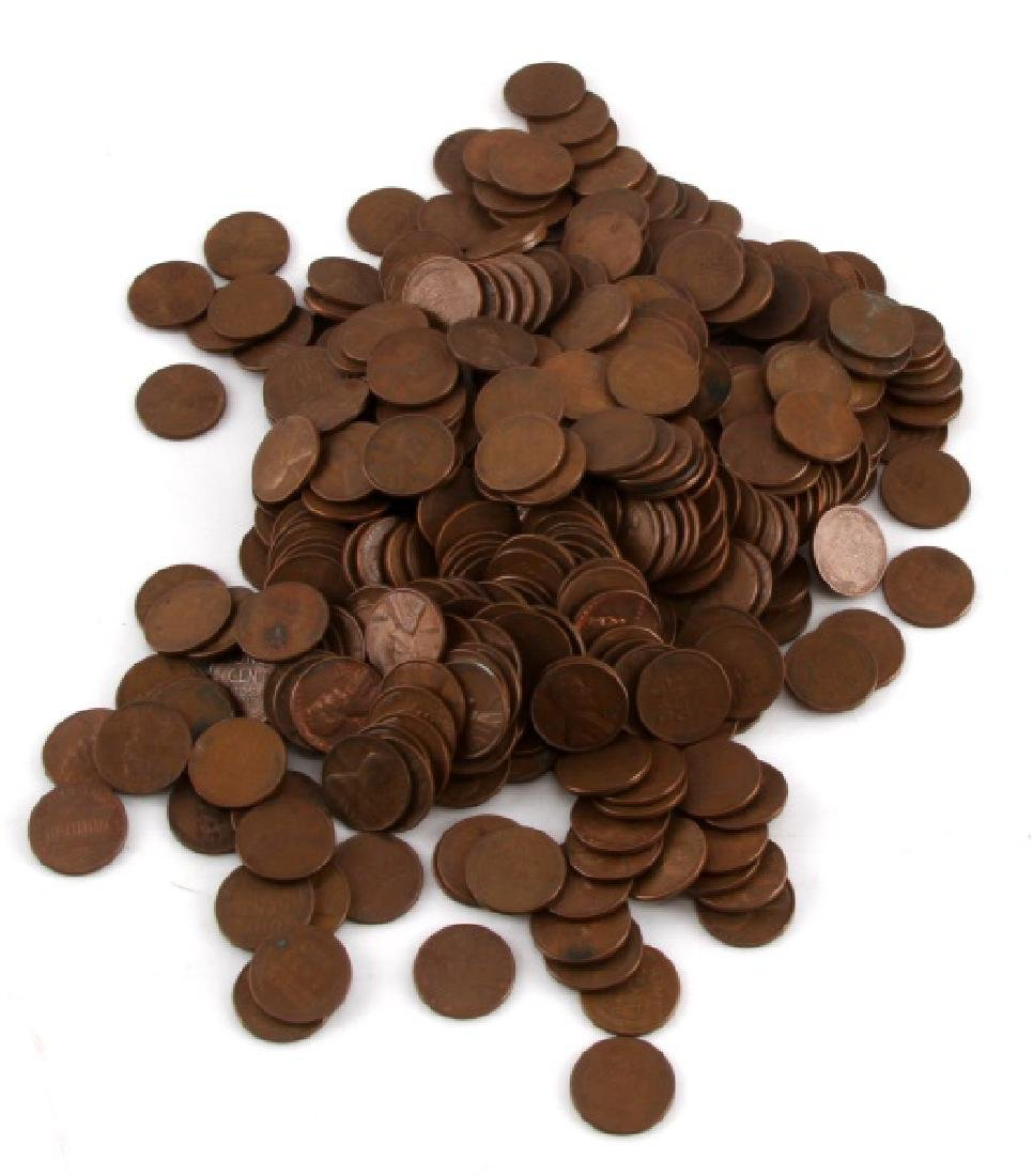 2.85 POUNDS OF WHEAT PENNIES 1 CENT U.S CURRENCY