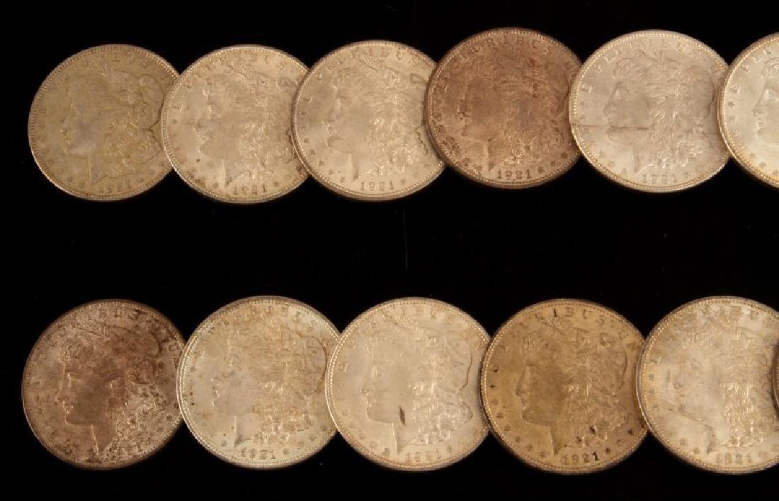 24 MORGAN SILVER DOLLAR COIN LOT ALL UNC 1921'S - 2