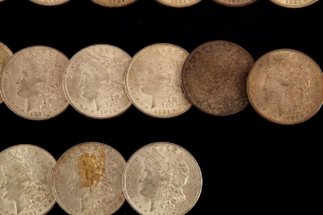 24 MORGAN SILVER DOLLAR COIN LOT ALL UNC 1921'S - 3