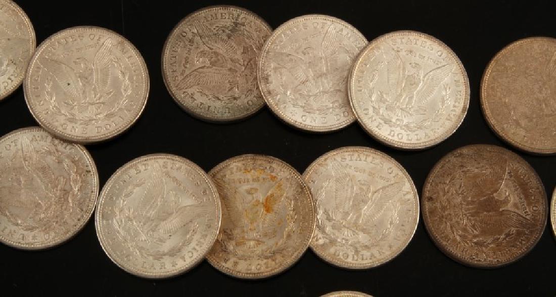 24 MORGAN SILVER DOLLAR COIN LOT ALL UNC 1921'S - 4