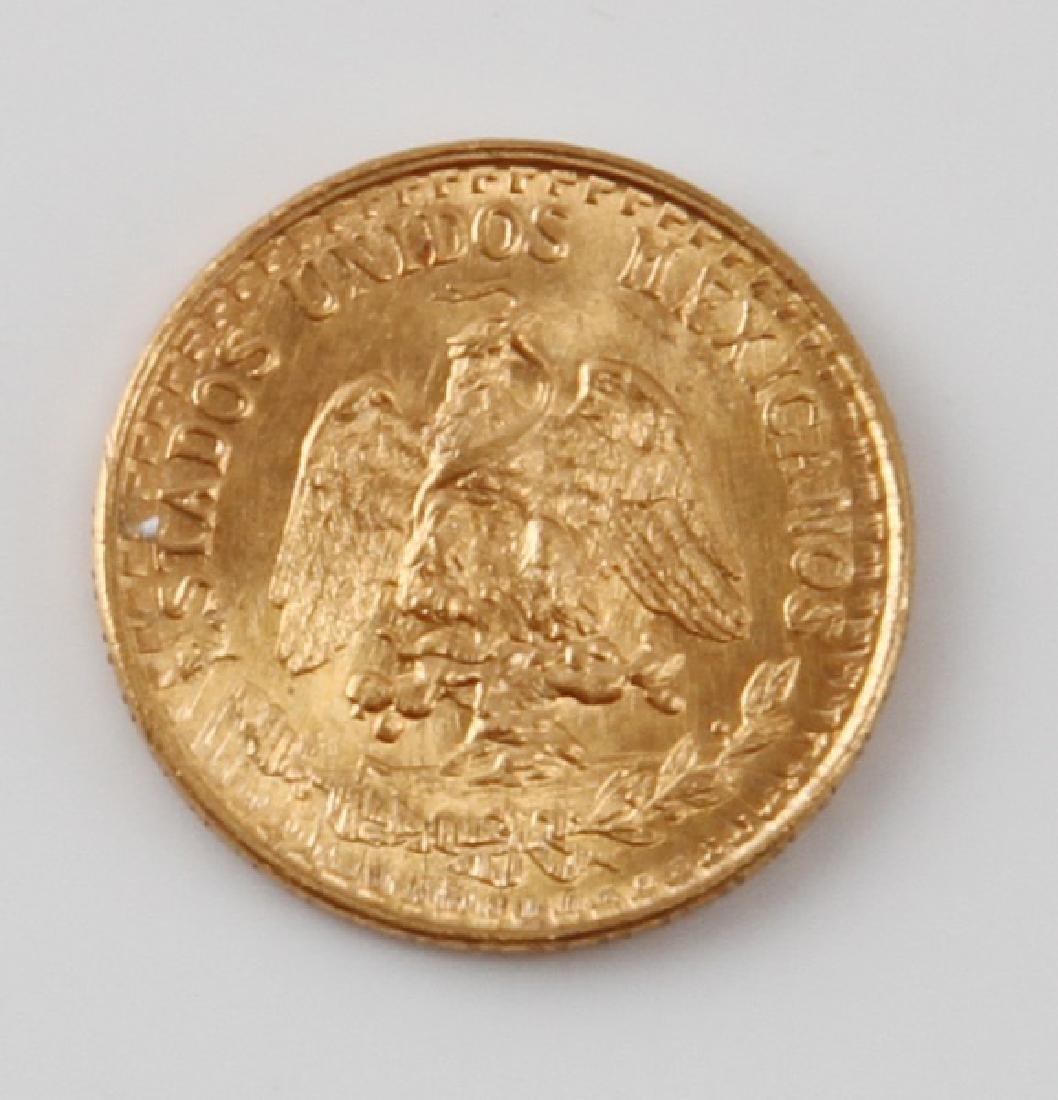 1945 MEXICAN DOS PESOS GOLD COIN XF