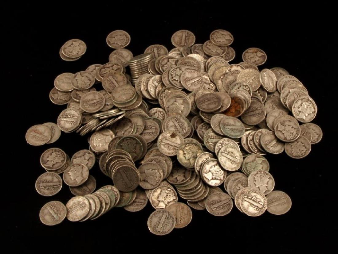 $35 FACE VALUE 350 COINS MERCURY DIME LOT UNSEARCH