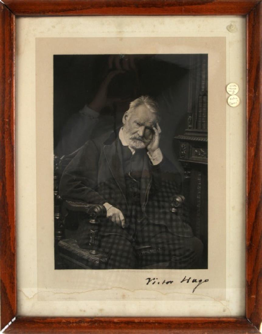 124VICTOR HUGO PORTRAIT SIGNED PHOTOGRAPH PRINT