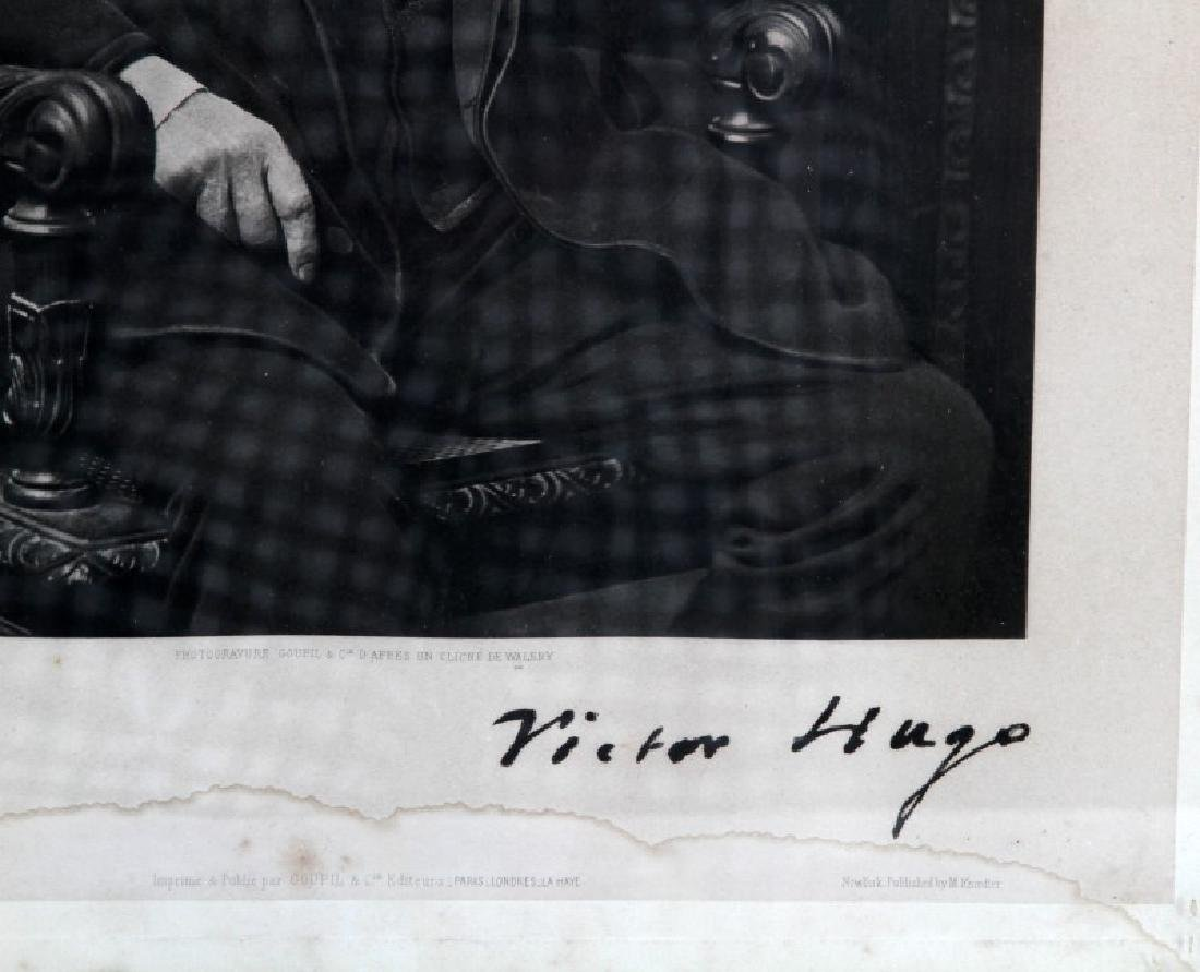 124VICTOR HUGO PORTRAIT SIGNED PHOTOGRAPH PRINT - 3