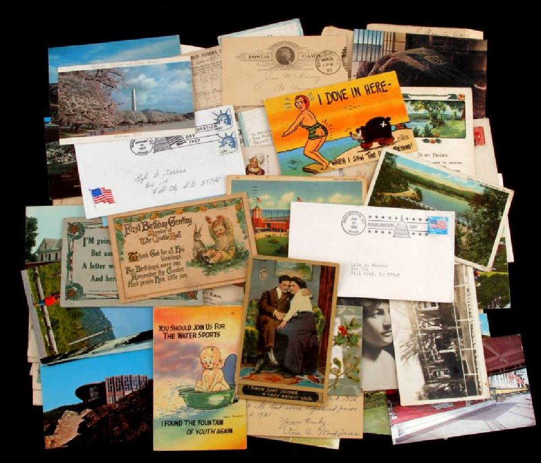 POSTAL EPHEMERA  LOT FROMI 19TH CENTURY TO PRESENT