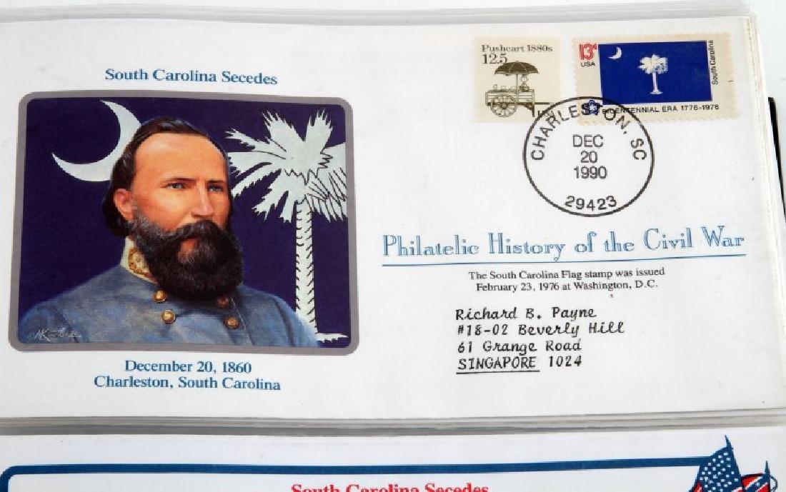 PHILATELIC CIVIL WAR HISTORY RARE FDI COVER ALBUM - 2