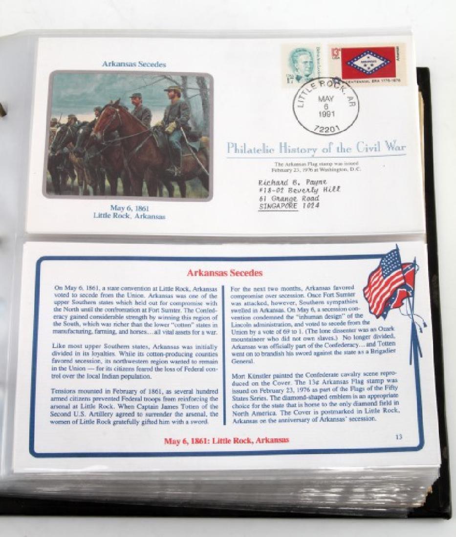 PHILATELIC CIVIL WAR HISTORY RARE FDI COVER ALBUM - 6