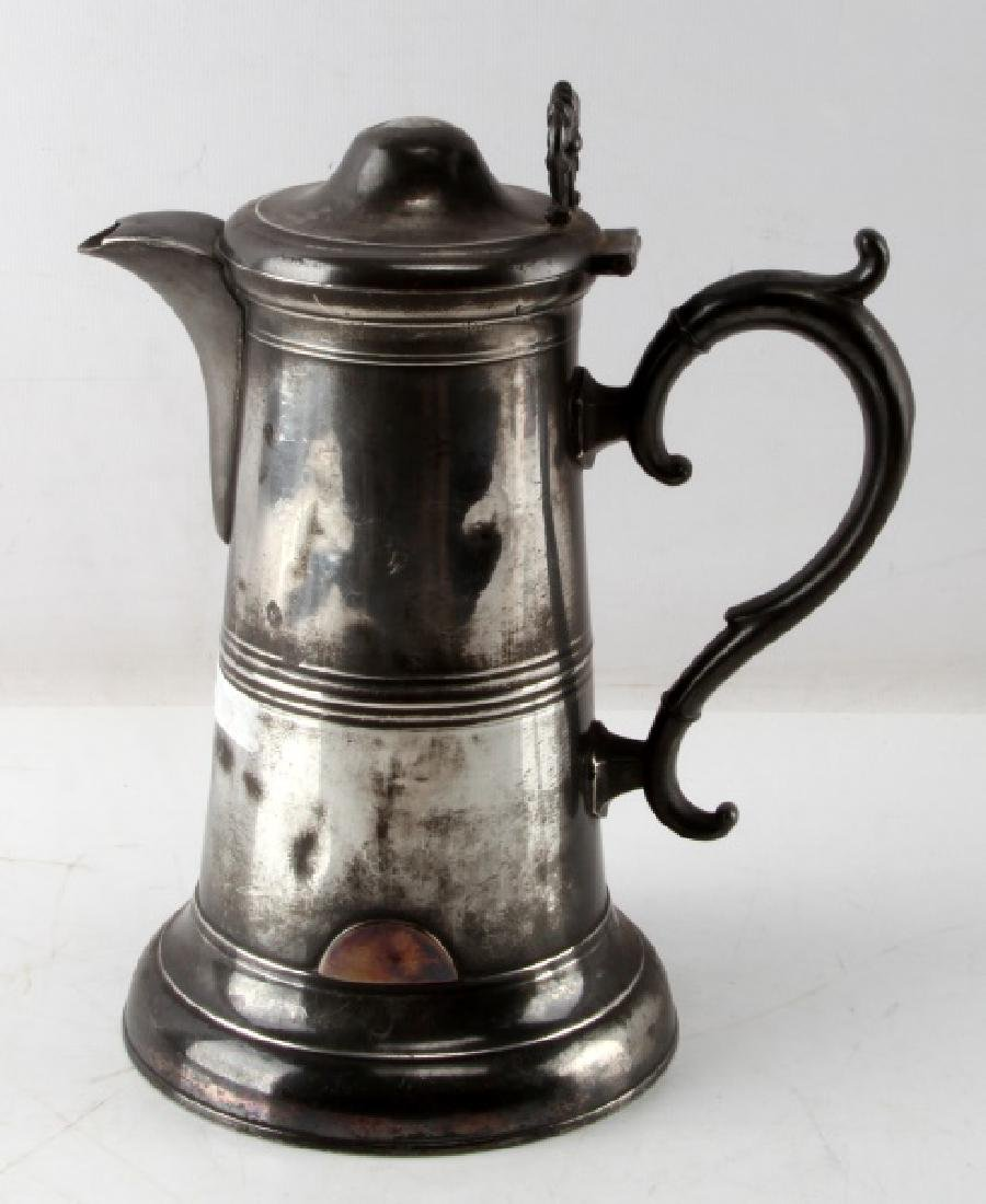 SELLEW & CO AMERICAN PEWTER LIDDED WATER PITCHER