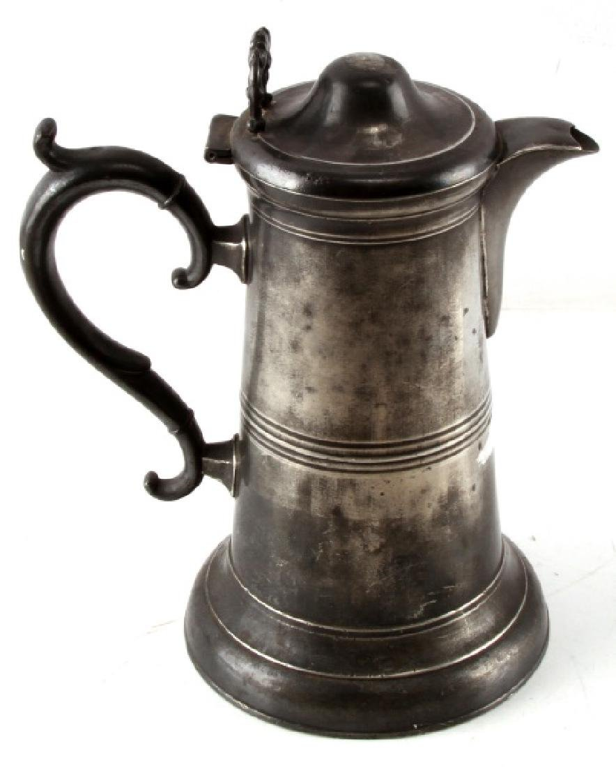 SELLEW & CO AMERICAN PEWTER LIDDED WATER PITCHER - 3