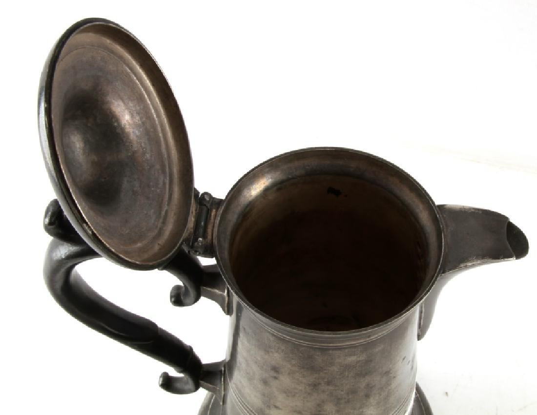 SELLEW & CO AMERICAN PEWTER LIDDED WATER PITCHER - 4