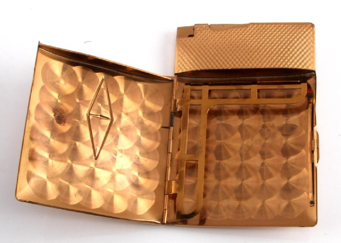 ELGIN GOLD PLATED CIGARETTE CASE WITH LIGHTER - 2