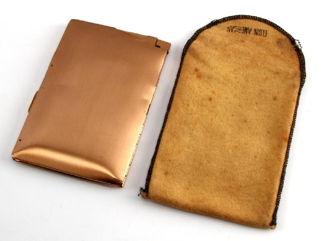 ELGIN GOLD PLATED CIGARETTE CASE WITH LIGHTER - 4