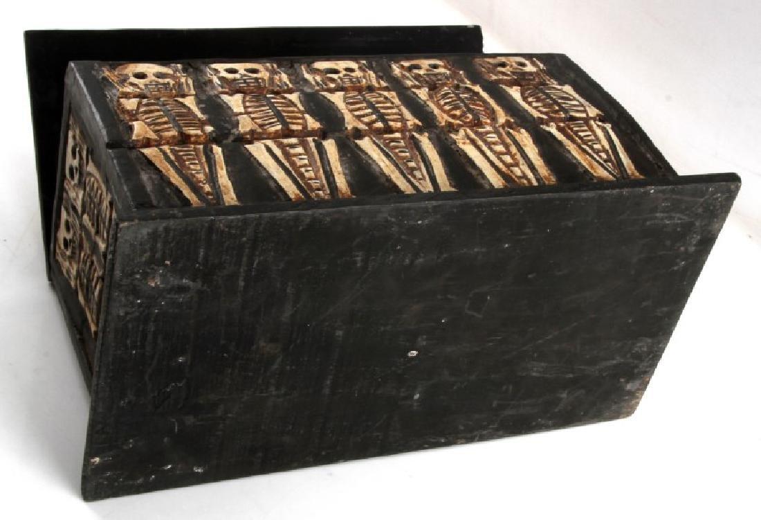 ANTIQUE ANIMIST TRIBAL AFRICAN MEMENTO MORI BOX - 5
