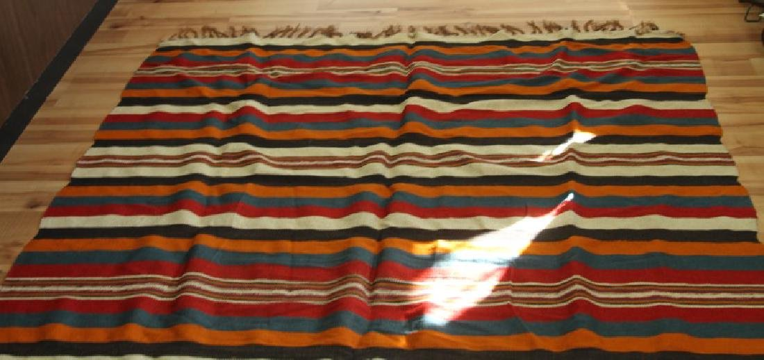VINTAGE NATIVE AMERICAN SERAPE SHOULDER BLANKET - 2