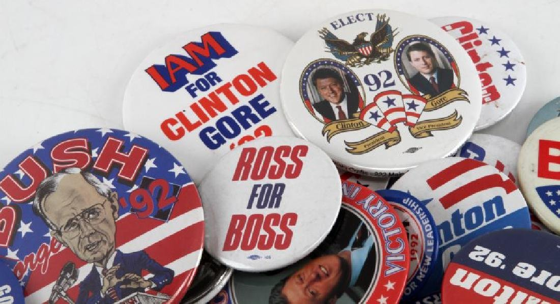 ASSORTED 1992 PRESIDENTIAL CAMPAIGN BUTTON LOT - 2