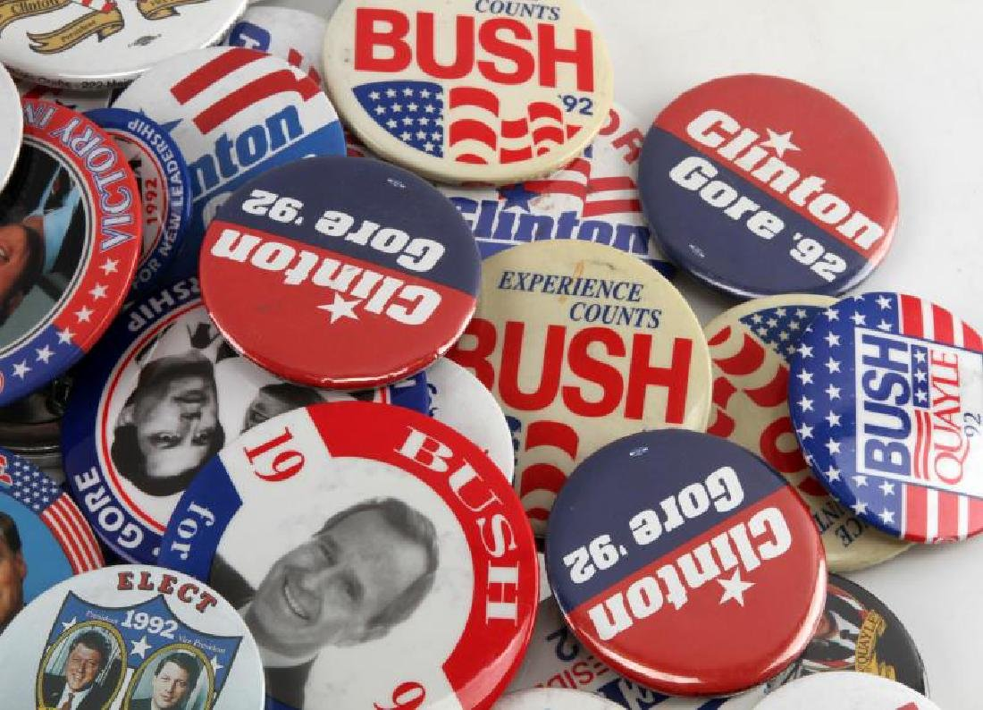 ASSORTED 1992 PRESIDENTIAL CAMPAIGN BUTTON LOT - 3
