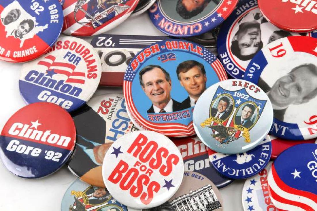 ASSORTED 1992 PRESIDENTIAL CAMPAIGN BUTTON LOT - 4