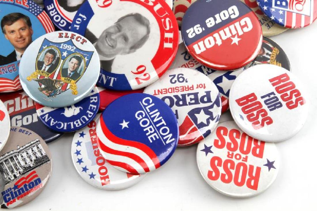 ASSORTED 1992 PRESIDENTIAL CAMPAIGN BUTTON LOT - 5
