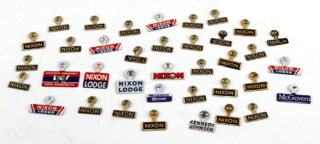 37 VINTAGE PRESIDENTIAL CAMPAIGN LAPEL PIN LOT