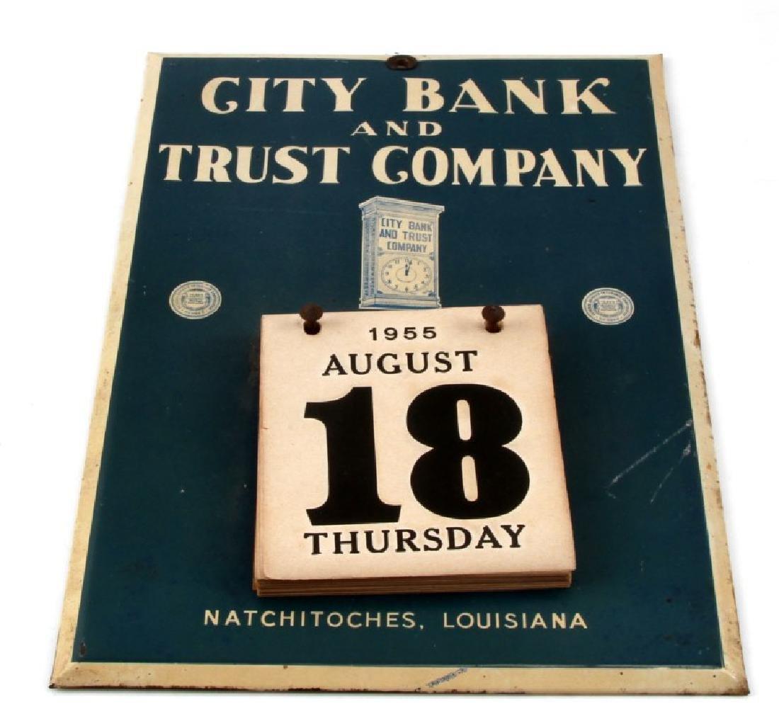 VINTAGE CITY BANK TRUST COMPANY LA CALENDAR SIGN