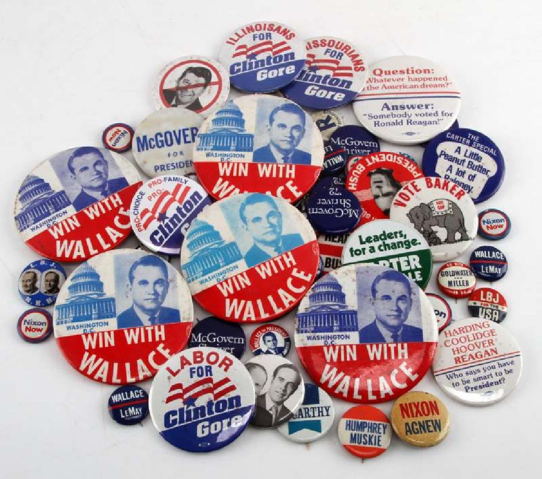 VINTAGE & NEWER PRESIDENTIAL CAMPAIGN BUTTON LOT
