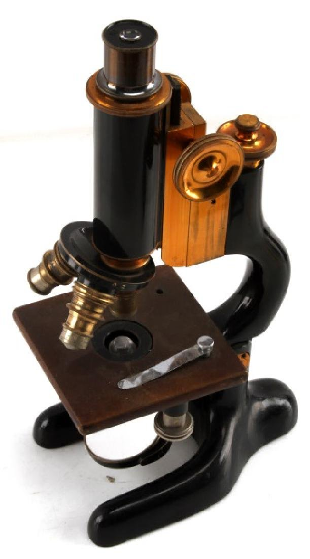 ANTIQUE BAUSCH & LOMB MICROSCOPE NO. 98216