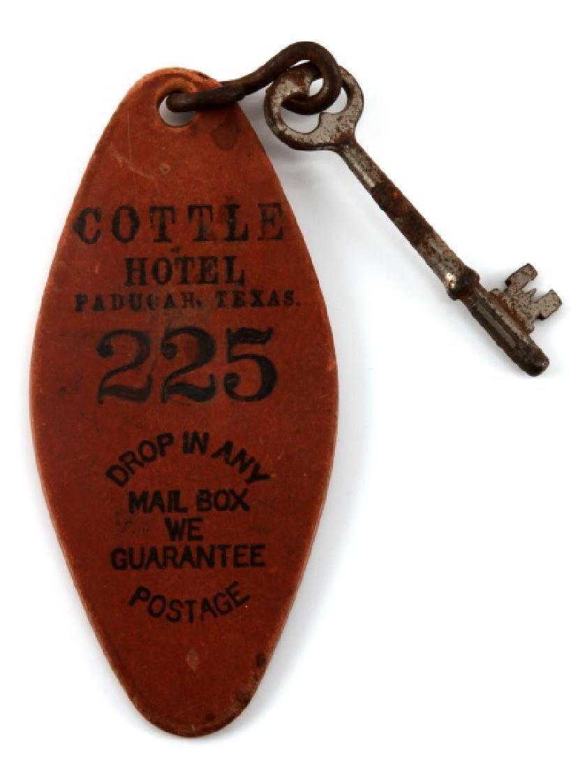 VINTAGE COTTLE HOTEL KEY & FOB PADUCAH TEXAS