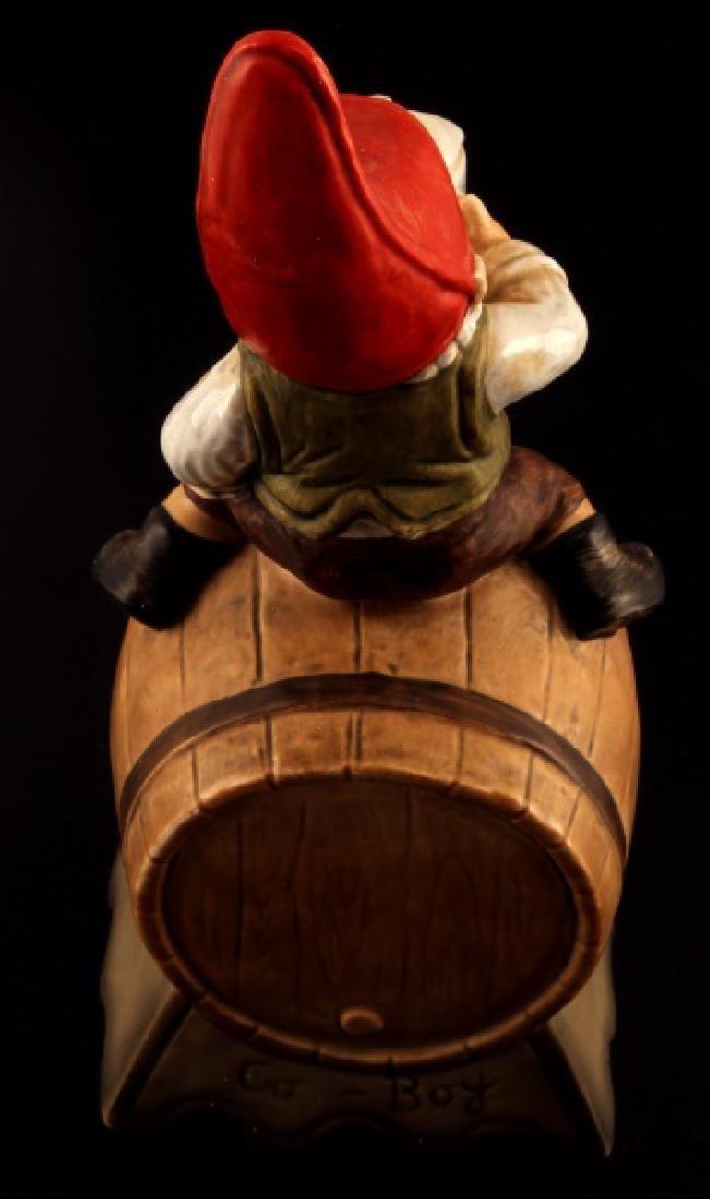 GOEBEL GNOME SEPP BEER CLOCK BARREL FIGUIRINE - 4