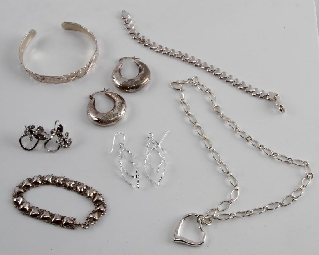 STERLING SILVER VINTAGE TO NEW FASHION JEWELRY LOT
