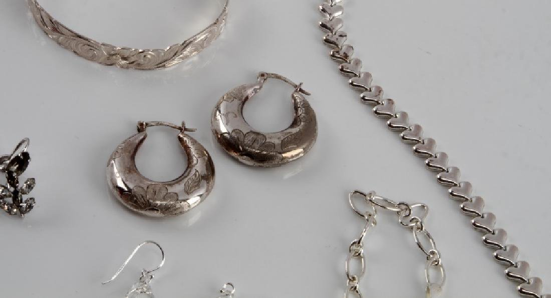 STERLING SILVER VINTAGE TO NEW FASHION JEWELRY LOT - 2