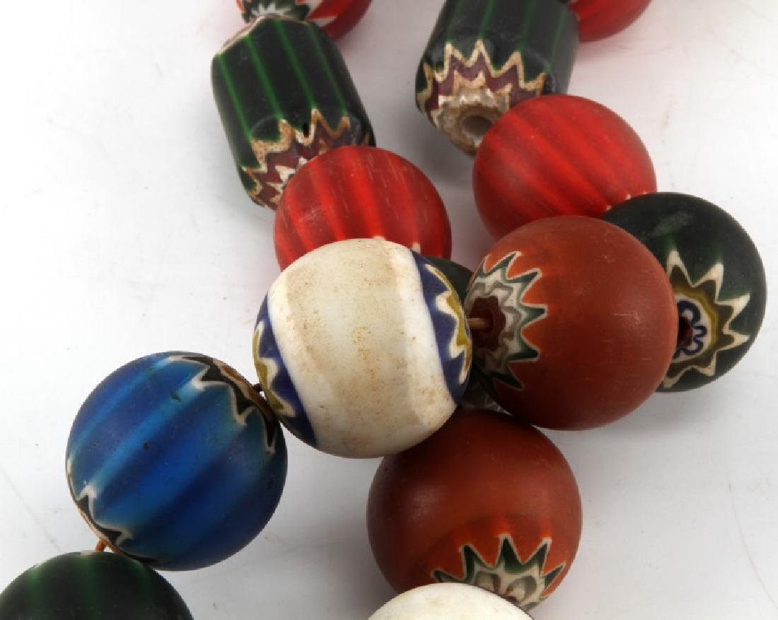 LARGE ANTIQUE VENETIAN TRADE BEADS LOT - 5
