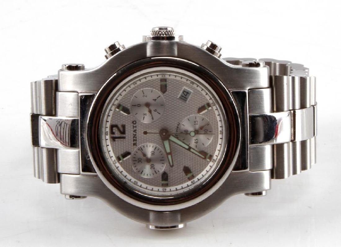 RENATO STAIN STEEL CHRONOGRAPH MENS WATCH G1071A