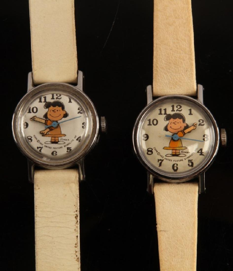2 ANTIQUE LUCY PEANUTS 1952 WRIST WATCH LOT - 2