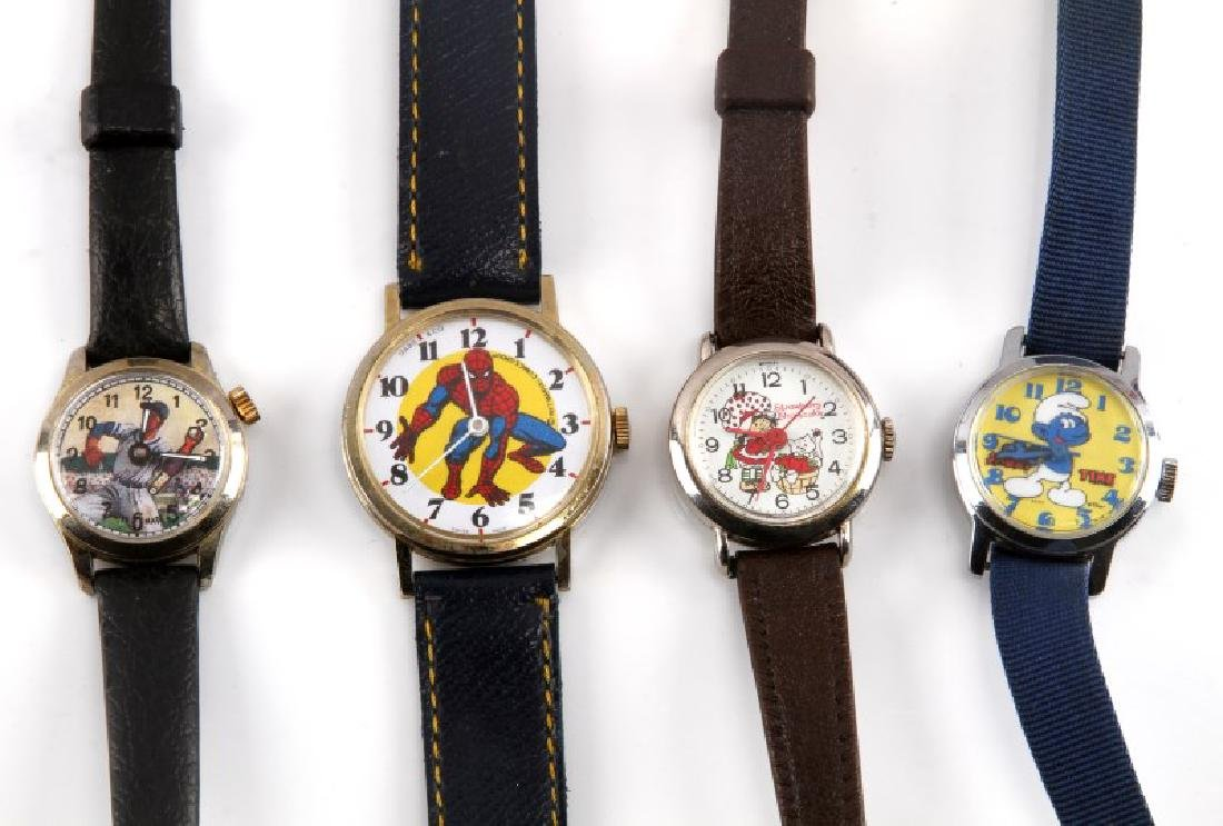4 VINTAGE ENTERTAINMENT THEMED WATCH LOT SMURFS - 2