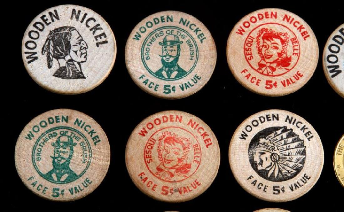 12 VINTAGE TOKEN LOT WOODEN NICKEL NORRISTOWN ETC - 2
