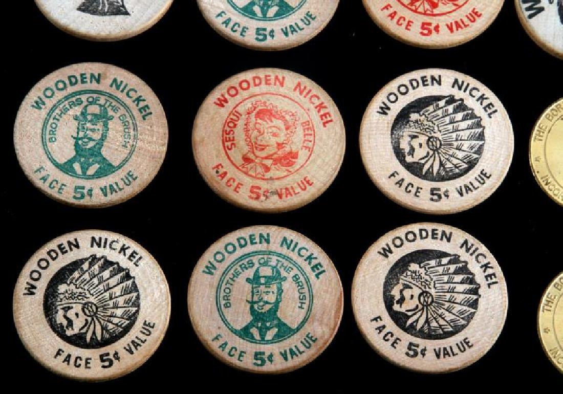 12 VINTAGE TOKEN LOT WOODEN NICKEL NORRISTOWN ETC - 4