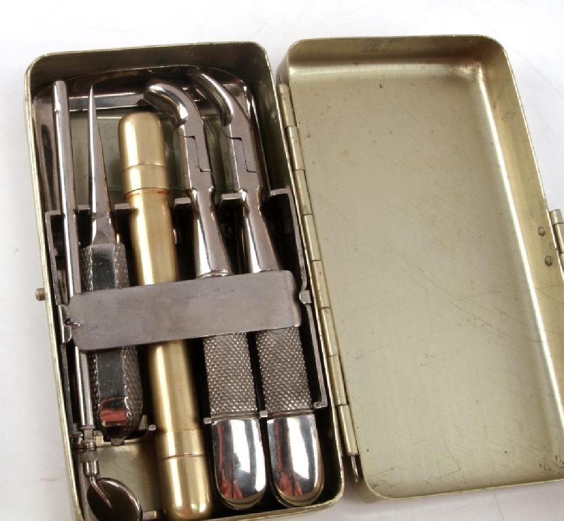 VINTAGE PORTABLE DENTIST CASE AND TOOLS SET - 3