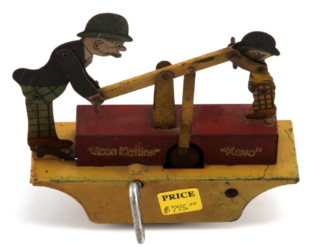 1930 MARX MOON MULLINS & KAYO RAILROAD WIND UP CAR