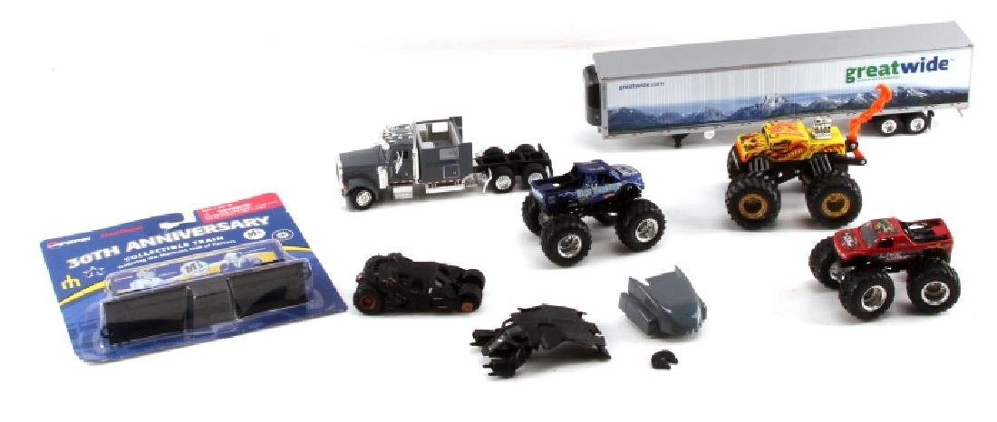 6 ASSORTED TOY CAR & VEHICLE LOT BATMOBILE ETC