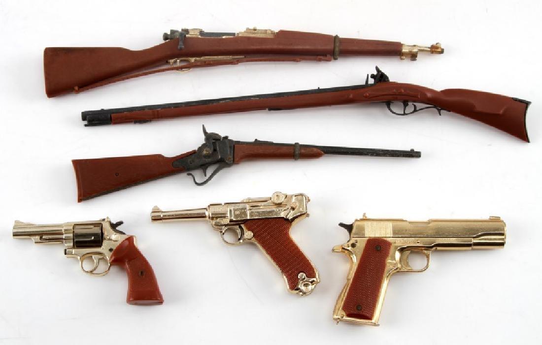 LOT OF 6 MARX VINTAGE MINIATURE GUNS - 2