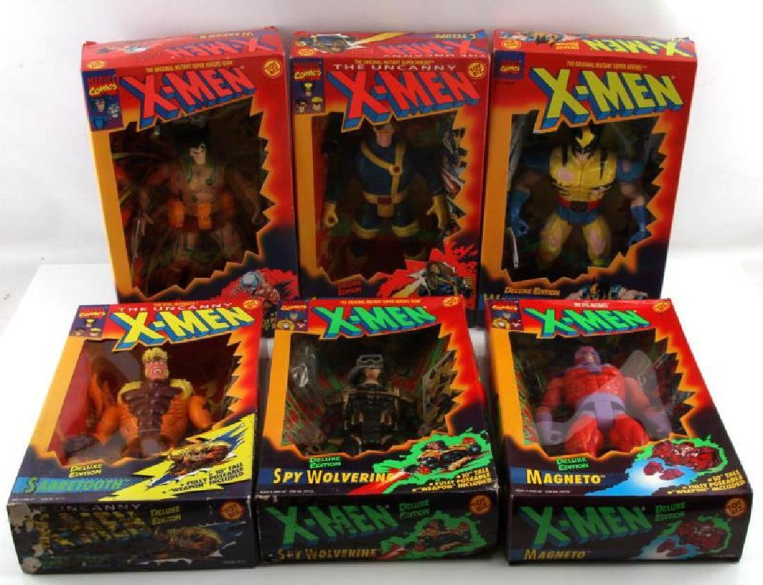 6 BRAND NEW IN BOX X MEN ACTION FIGURES