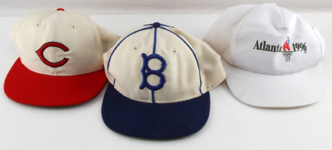 3 VINTAGE BASEBALL & OLYMPIC HATS DODGERS CUBS