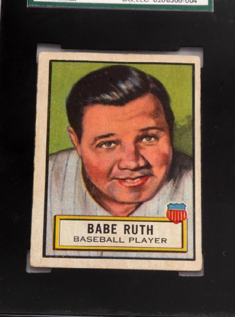 1952 BABE RUTH TOPPS #15 LOOK N SEE BASEBALL CARD - 2