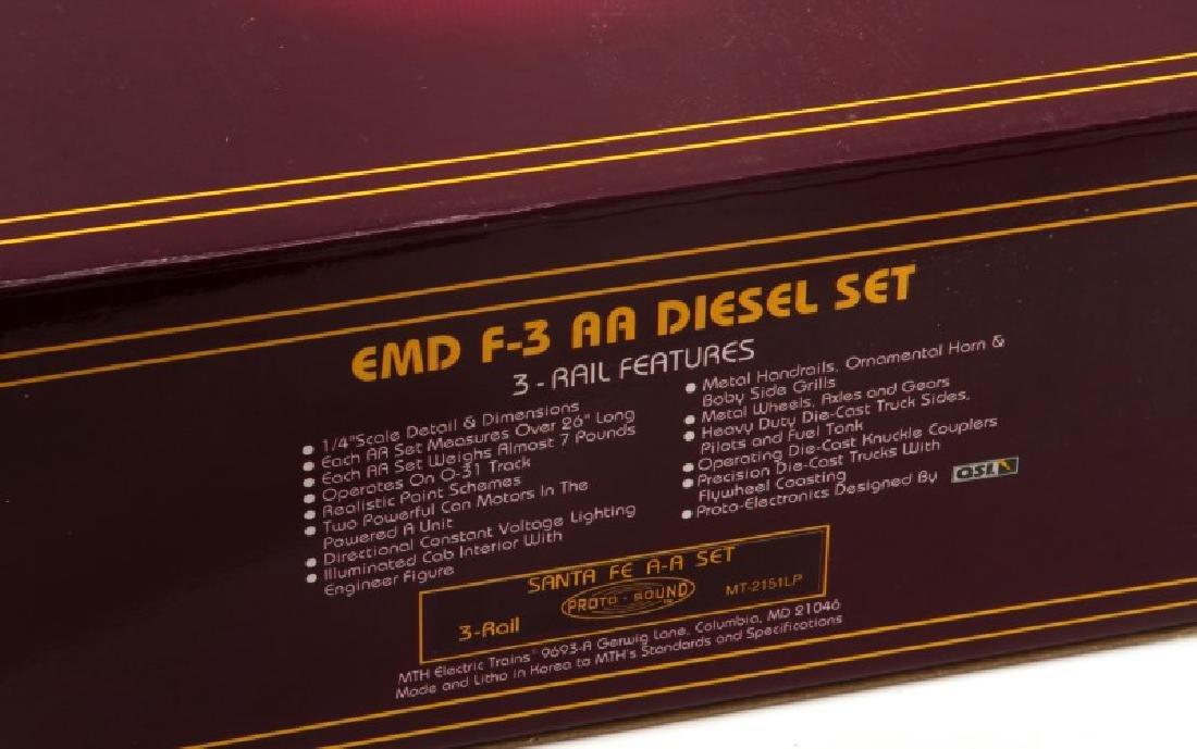 MTH EMD F3 AA DIESEL SANTA FE ELECTRIC TRAIN SET - 3