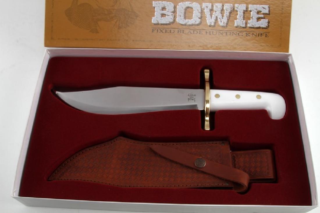 CASE HUNTER BOWIE FIXED KNIFE W SHEATH NIB 02000 - 2