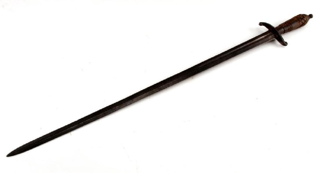 VINTAGE SWORD BLADE WITH FULLER HORN OR HOOF GRIP - 2
