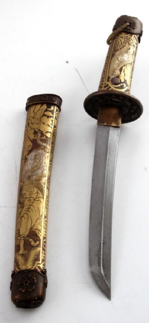 REPRODUCTION JAPANESE TANTO DAGGER SHORT SWORD - 3